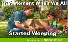 Saddest moment in Toy Story 3