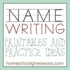 FREE Name Writing Printables and Practice Ideas Free Homeschool Deals © Kindergarten Names, Preschool Names, Preschool Lessons, Preschool Worksheets, Preschool Ideas, Preschool Projects, Teaching Kindergarten, Preschool Prep, Preschool Letters