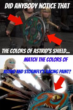 Made by me. I noticed that the colors of Astrid's shield in HTTYD matched the colors of Astrid and Stormfly's racing paint in HTTYD 2. Did anyone else notice this? Made by Noctus Fury.