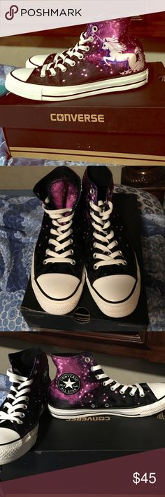 Unicorn converse Unicorn Converse  Practically brand new, barely worn with original box! Converse Shoes Athletic Shoes
