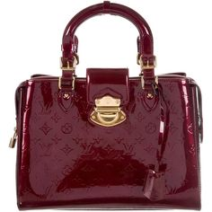 Pre-owned Louis Vuitton Vernis Melrose Avenue Bag ($1,395) ❤ liked on Polyvore featuring bags, burgundy, real leather bags, leather bags, louis vuitton, louis vuitton bags and burgundy bag