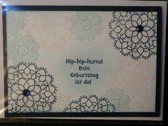 Geburtstagskerzen - Hip-Hip-Hurra ! - Geburtstagskarte - ein Designerstück von kreativesherzerl bei DaWanda