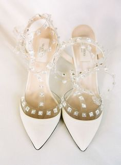 Valentino Rockstud Pumps Cinderella Style in Creme #Valentinos #Rockstuds