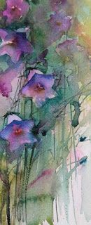 Watercolours With Life: Campanula : Garden Studies 2013/