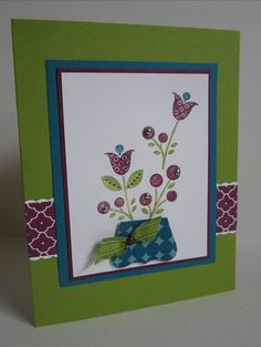 Stampin Up Bright Blossoms card by LeeAnn Greff