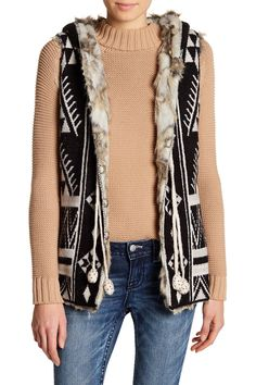 Sunset Valley Faux Fur Lined Vest Hoodie