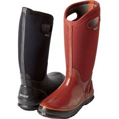I LOVE these boots. They're warm in crazy cold weather, comfortable, and the grip holes are fabulous. Razor Atv, Mud Boots, Yummy Mummy, High Boots, Cold Weather, Women's Accessories, Rubber Rain Boots, Garden Ideas, Porn