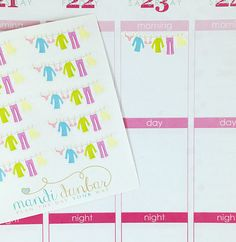 10 Clothesline Banner Stickers – Perfect for Erin Condren, Plum Paper Planner, Inkwell Press, Filofax, Scrapbooking & More