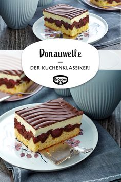 Kuchen-Rezepte Donauwellen: A fruity cake made of tin with cherries, butter cream and chocolate Easy Smoothie Recipes, Easy Smoothies, Cupcake Recipes, Cookie Recipes, Vegan Lemon Cake, Fall Desserts, Party Desserts, Food Cakes, Homemade Chocolate