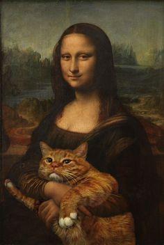 Fat Cat Art, el gato que protagoniza importantes obras de arte