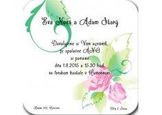 Svadobné oznámenie - SŠ005
