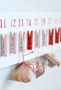 Adventkalender met cadeautje, tekst, foto, snoepje..