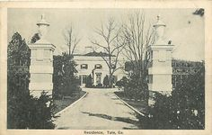 Tate House, Tate, Georgia, 1924, Walker & Weeks, architects | Col. Tate was the owner of the Georgia Marble Co.