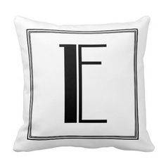 Art Deco Letter L Monogrammed Pillow  Art Deco And Pillows