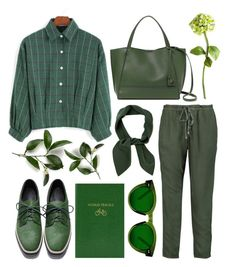 """""""GREEN"""" by amltra ❤ liked on Polyvore featuring Splendid, Botkier, Sloane Stationery, Chloé and Tommy Mitchell"""