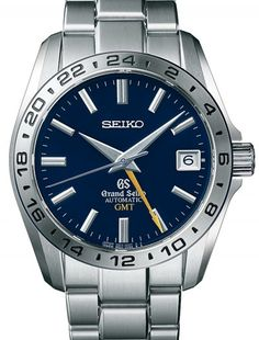 Introducing the Grand Seiko GMT anniversary editions (with specs and pricing) Dream Watches, Cool Watches, Watches For Men, Wrist Watches, Amazing Watches, Seiko Automatic, Automatic Watch, Best Looking Watches, Old Models