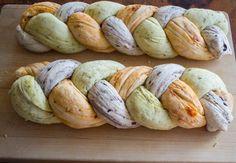 Tri-colored bread