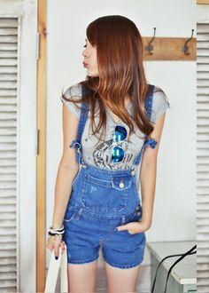러닝와일드 오버롤즈 (36,000원) in faded blue and blue