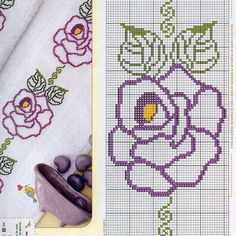 Sunshine Home Decor Cross Stitch Boarders, Cross Stitch Bookmarks, Cross Stitch Rose, Cross Stitch Flowers, Cross Stitch Designs, Cross Stitching, Cross Stitch Embroidery, Hand Embroidery, Cross Stitch Patterns
