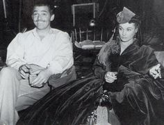 """vintage everyday: Behind the Scenes Photos of """"Gone with the Wind"""""""