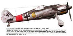 Focke Wulf Fw 190A7 3.JG1 Yellow 6 WNr 340283 Schiphol Holland 1942 0A