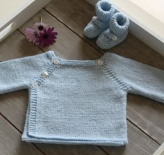 Knitted Baby Vest and Booties
