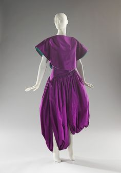 Designer: Madame Grès (Alix Barton) (French, Paris 1903–1993 Var region) Date: fall/winter 1980 Culture: French Medium: silk