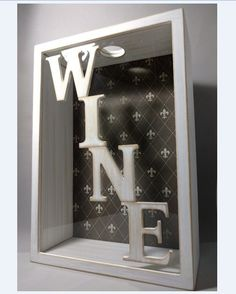 Quadro Caixa Porta Rolhas - Vinho. www.elo7.com.br/decorachados