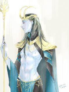 Jotun Prince Loki by mokonosuke