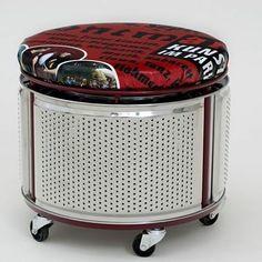 Reaproveitando tambor de máquina de lavar roupas  // para visualizar mais imagens acesse nossa página no facebook ou blog → link na bio // imagem não autoral //