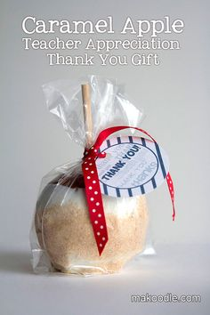 Caramel Apple Teacher Appreciation Thank You Gift