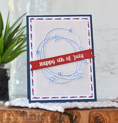 Happy 4th Of July Card by Amy Sheffer for Papertrey Ink (May 2016)
