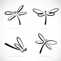 Clip Art Vector - Vector group of dragonfly sketch on white background. Dragonfly Tattoo Design, Tattoo Designs, Dragonfly Art, Dragonfly Images, New Tattoos, Small Tattoos, Cool Tattoos, Tatoos, Get A Tattoo