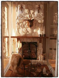 miniature fireplace in lantern