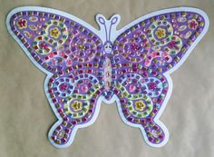 Mosaic Art - Numbered Colour Butterfly - KidsnCrafts Online Store - 1 Craft Projects For Kids, Crafts For Kids, Mosaic Art, Butterfly, Colour, Store, Crafts For Children, Color, Kids Arts And Crafts