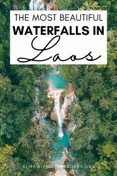 Discover 12 of the most beautiful waterfalls in Laos. My Laos Waterfall guide includes how to get there, the best time to visit and what to expect. #Laos #waterfalls #LaosWaterfalls #LaosTravel #WaterfallsInLaos #AsiaWaterfalls #KuangSi