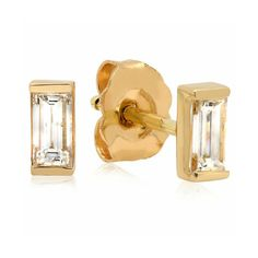Baguette Diamond Stud – Shylee Rose Jewelry