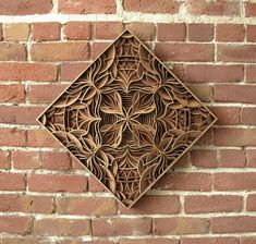Geometric Laser-Cut Wood Relief Sculptures by Gabriel Schama