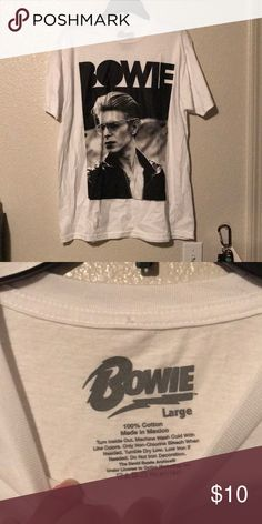 Bowie T-shirt Really nice NWOT. Great for anyone that loved this great man! Shirts Tees - Short Sleeve