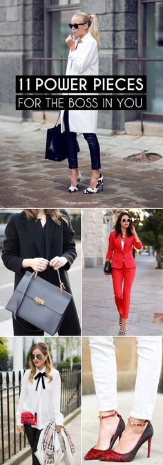 Want to know how to look confident at work? This year, let your clothing do the talking. Regardless of what you do and where you work, there are certain closet staples that help you look confident. Click on for 11 must-own pieces to bring out the girl boss in you.