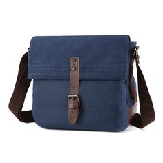 Casual Men Messenger Bag Canvas Shoulder Bags For Men Business Travel Crossbody Canvas Messenger Bag, Messenger Bag Men, Crossbody Bags For Travel, Canvas Shoulder Bag, Business Travel, Briefcase, Handbag Accessories, Fashion Bags, Men Casual