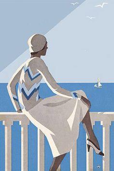 Venus Art Prints - Australia's finest collection of Australian vintage travel posters and prints Retro Poster, Art Deco Posters, Poster Ads, Vintage Travel Posters, Vintage Postcards, Poster Prints, Art Print, Art And Illustration, Illustrations And Posters