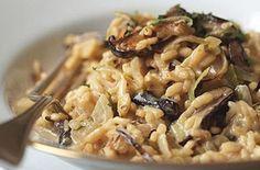 Risotto with Leeks, Shiitake Mushrooms, and Truffles Recipe Porcini Mushrooms, Stuffed Mushrooms, Stuffed Peppers, How To Make Risotto, Truffle Recipe, Pasta Salad, Kai, Risotto, Kitchens