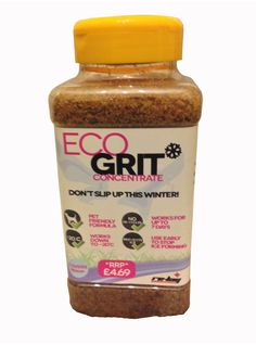 Eco Grit Concentrate - the safe, pet-friendly alternative to regular road and path grit.  No toxic chemicals - keep your #pet safe this winter! £4.69 plus eco points