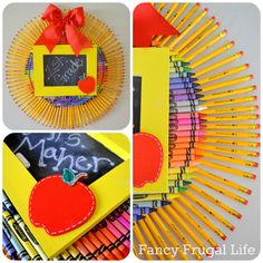 Crayon & Pencil Wreath (Back to School Craft) |
