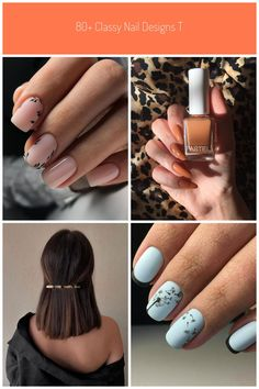 80+ Classy Nail Designs To Fall In Love #classy nails BlueHost.com Classy Nail Art, Classy Nail Designs, Fall Nail Designs, Acrylic Nail Designs, Gel Nails, Acrylic Nails, Almond Shape Nails, Fall Nail Colors, Shades Of Black