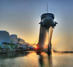 Battleship USS Wisconsin, Sunset