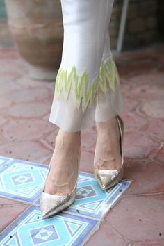 Eid Look Book feat. Salwar Designs, Kurti Designs Party Wear, Dress Neck Designs, Blouse Designs, Salwar Pants, Pakistani Fashion Casual, Couture Details, Pants For Women, Clothes For Women