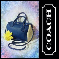 Coach Mini Bennett Shearling and Blue Leather Satchel Bag Handbag Purse F36689 | Clothing, Shoes & Accessories, Women's Handbags & Bags, Handbags & Purses | eBay!