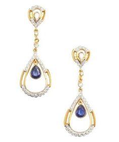 Vanhitaznite and diamond teardrop earrings